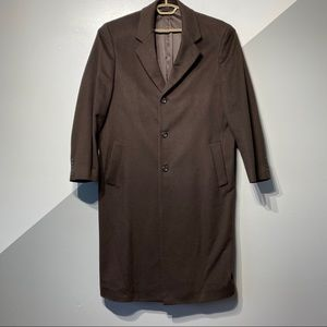 Loro Piana 100% Cashmere Overcoat Chocolate Brown